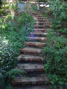 brick steps, rustic, warrandyte